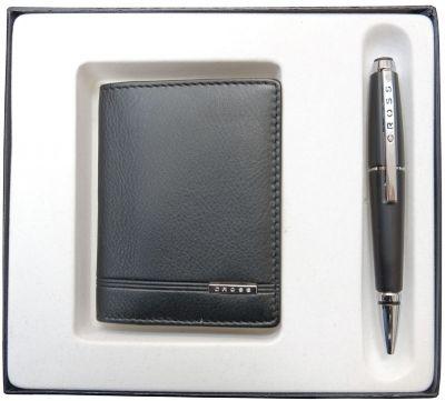 AC018036-1NAB Набор подарочный Cross, 2 пр. Состав набора:чехол для кредитных карт и ручка.