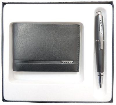 AC018068-1NAB Набор подарочный Cross, 2 пр. Состав набора: портмоне и ручка.