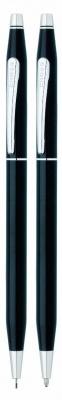AT0081-77 Набор Cross Century Classic: шариковая ручка и механический карандаш 0.7мм. Цвет - черный.