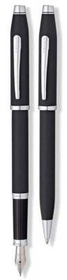 AT0087WG-98MS Набор Cross Century II: шариковая ручка и перьевая ручка. Цвет - матовый черный.