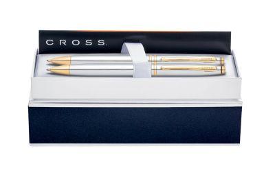 AT0101G-6 Набор Cross Avitar: шариковая ручка и механический карандаш 0.7мм. Цвет - серебристый.