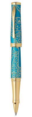 AT0315-22 Ручка-роллер Selectip Cross Year of the Monkey 2016. Цвет - бирюзовый/золото