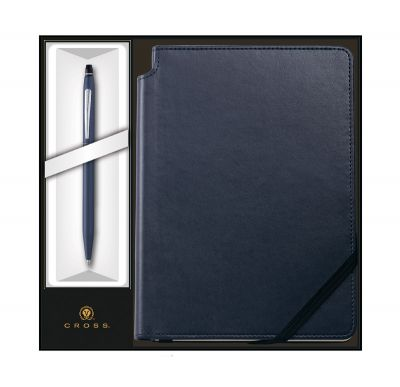 GS184061192 Cross Click. Набор: Шариковая ручка Cross Click Midnight Blue и Записная книжка Cross Journal Midnight Blue, A5