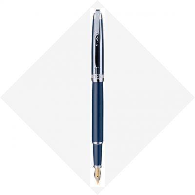 PC5009FP-B11 Перьевая ручка Pierre Cardin PROGRESS. Корпус - латунь, глянцевый лак; колпачок - контрастные полосы лака и хрома.
