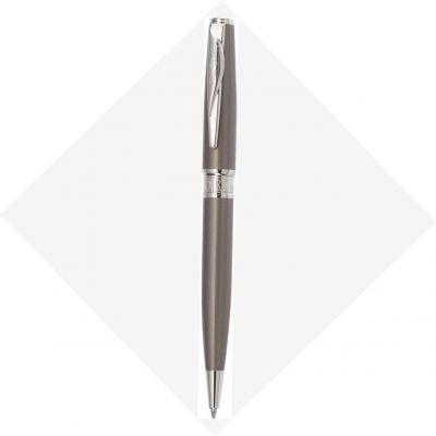 PCA1561BP Шариковая ручка Pierre Cardin SECRET Business. Корпус  - латунь и лак. Отделка и детали дизайна -  сталь, хром. Цвет - перламутровый бежевый. Упаковка