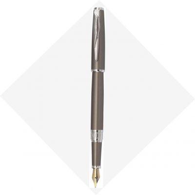 PCA1561FP Перьевая ручка Pierre Cardin SECRET Business. Корпус и колпачок - латунь и лак. Отделка и детали дизайна -  сталь, хром. Цвет - перламутровый бежевый.