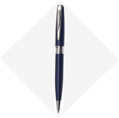 PCA1564BP Шариковая ручка Pierre Cardin SECRET Business. Корпус - латунь и лак. Отделка и детали дизайна -  сталь, хром. Цвет - перламутровый синий. Упаковка В.