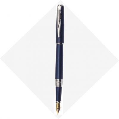 PCA1564FP Перьевая ручка Pierre Cardin SECRET Business. Корпус и колпачок - латунь и лак. Отделка и детали дизайна -  сталь, хром. Цвет - перламутровый синий. П