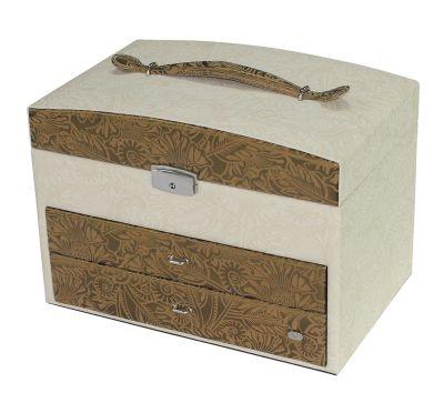 GR1711131884 JARDIN D'ETE Шкатулки для украшений JARDIN D'ETE. Шкатулка для украшений Jardin D'Ete, цвет бело-золотой, 30 х 20 х 22,5 см
