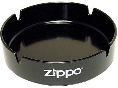 GR1711131193 Zippo. Пепельница ZIPPO, долговечный пластик, чёрная с фирменным логотипом, диаметр 13 см