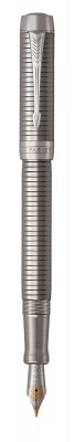 1931364 Перьевая ручка Parker Duofold Prestige Centennial, Ruthenium Chiselled CT