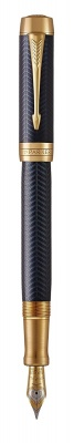 1931369 Перьевая ручка Parker Duofold Prestige Centennial, Blue Chevron GT Foutain Pen Fine