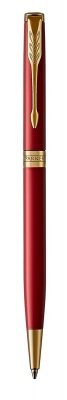1931477 Шариковая ручка Parker Sonnet Slim , Lacquer Intense Red GT