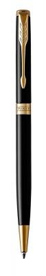 1931498 Шариковая ручка Parker Sonnet Slim , Lacquer Deep Black GT
