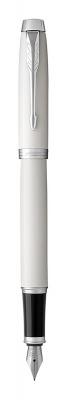 1931672 Перьевая ручка Parker IM Metal White CT