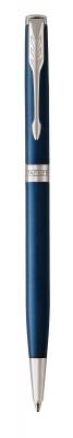 1945365 Шариковая ручка Parker Sonnet Slim , Subtle Blue Lacquer CT, Mblack