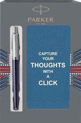 1953186Cover Подарочный набор с блокнотом и Шариковая ручка Parker Jotter Essential, Royal Blue CT