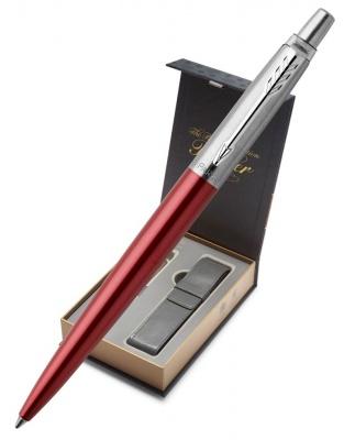 1953187Gift Подарочный набор с чехлом и Шариковая ручка Parker Jotter Essential, Kensington Red CT