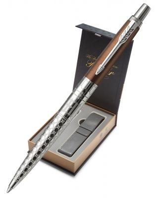 2025826CoverNew Подарочный набор с чехлом и Шариковая ручка Jotter K175 London Architecture Gothic Bronze