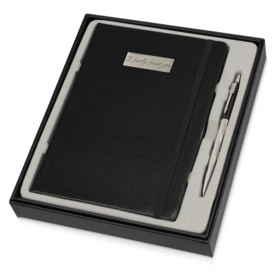 2025829MAL Набор с гравировкой: Блокнот и Шариковая ручка Parker Jotter London Architecture Postmodern