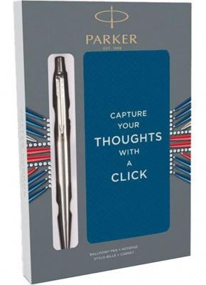 2061287 Подарочный набор с блокнотом и Шариковые ручки Parker Jotter St. Steel СT