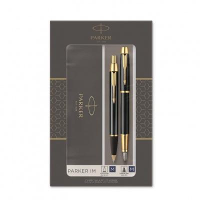 2093216 Набор из 2х ручек в подарочной коробке  «Паркер Ай Эм Блэк Джи Ти».  Шариковая ручка и перьевая ручка. Произведено в Китае.