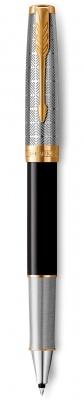 2119786 Ручка-роллер Parker Sonnet Premium Refresh BLACK, цвет чернил Fblack, в подарочной упаковке