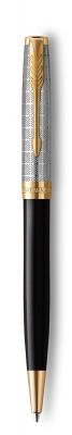 2119787 Шариковая ручка Parker Sonnet Premium Refresh BLACK, цвет чернил Мblack,в подарочной упаковке
