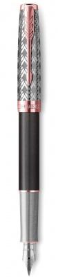 2119788 Перьевая ручка Parker Sonnet Premium  GREY, перо 18K, толщина F, цвет чернил black, в подарочной упаковке