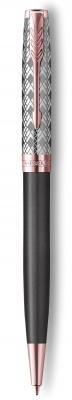 2119791 Шариковая ручка Parker Sonnet Premium Refresh GREY, цвет чернил Мblack, в подарочной упаковке