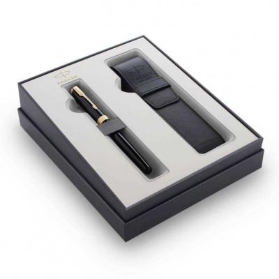 2121710 Подарочный набор Parker Sonnet с перьевой ручкой и чехлом Black GT, перо M