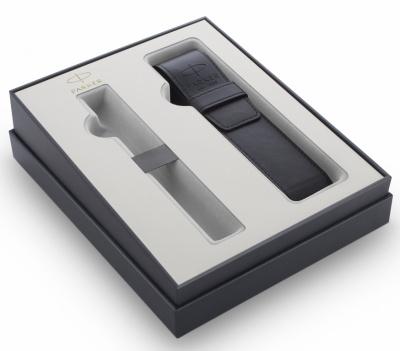 PR1BX-BLK2 Parker Комплектующие. Подарочная коробка Parker с чехлом для одной ручки, цвет черный