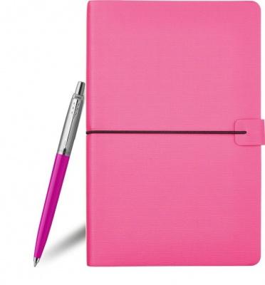 2075996 + 3-535.04 Набор с гравировкой Parker: блокнот цвета фуксии и шариковая ручка Parker Jotter Originals, цвет стержня синий