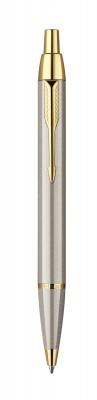 S0856480 Шариковая ручка Parker IM Metal, K223, цвет: Brushed Metal GT, стержень: черный