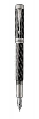 1945413 Перьевая ручка Parker Duofold Prestige Centennial, Black Chevron CT, перо: F