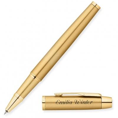 Ручка-роллер Parker Im Metal t223 черный F позолоченные детали r0811700
