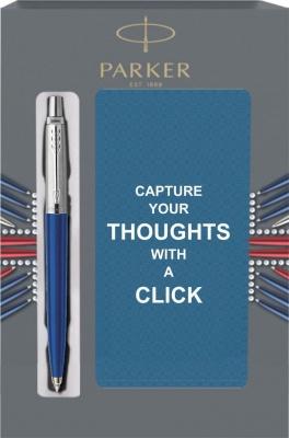 R0033170Cover2 Подарочный набор с блокнотом и Шариковая ручка Parker Jotter Blue CT