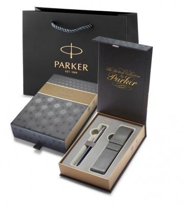 R0033170case Подарочный набор с чехлом и шариковая ручка Parker Jotter Blue CT