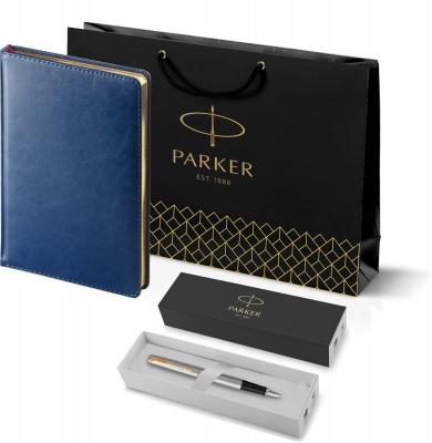 203_3_128.040948 Подарочный набор:Ручка перьевая Parker Jotter Stainless Steel GT и Ежедневник синий недатированный  «Sidney Nebraska»