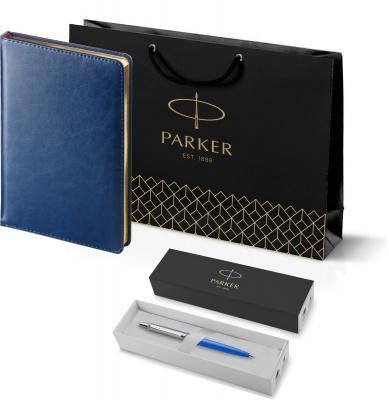 207_3_128.046052 Подарочный набор: Шариковая ручка Parker Jotter ORIGINALS BLUE CT, стержень: Mblue  и Ежедневник синий недатированный  «Sidney Nebraska»