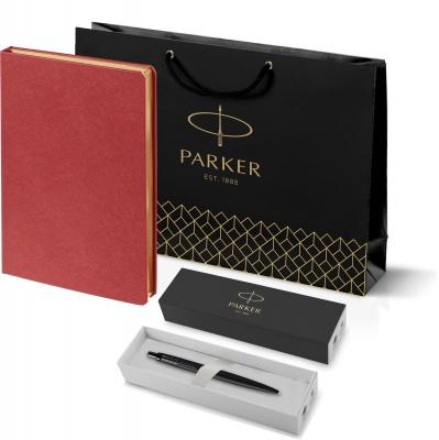 212_11105.502753 Подарочный набор: Шариковая ручка Parker  Jotter XL SE20 Monochrome в подарочной упаковке, цвет: Black, стержень: Mblue и Ежедневник Saffian недатиров