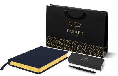 212_24606.262753 Подарочный набор: Шариковая ручка Parker  Jotter XL SE20 Monochrome в подарочной упаковке, цвет: Black, стержень: Mblue и Ежедневник недатированный Jo