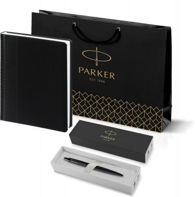 212_2645.302753 Подарочный набор: Шариковая ручка Parker  Jotter XL SE20 Monochrome в подарочной упаковке, цвет: Black, стержень: Mblue и Ежедневник Brand недатирован