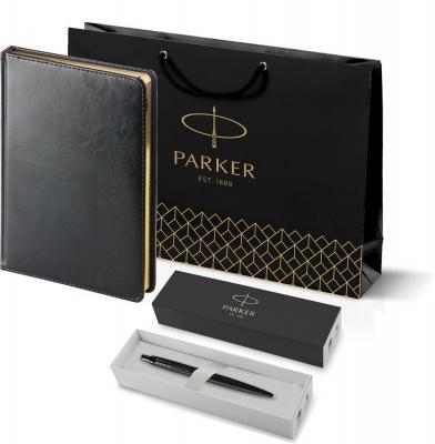 212_3_128.022753 Подарочный набор: Шариковая ручка Parker  Jotter XL SE20 Monochrome в подарочной упаковке, цвет: Black, стержень: Mblue и Ежедневник черный недатирова