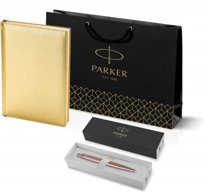 212_3_128.112755 Подарочный набор: Jotter XL SE20 Monochrome в подарочной упаковке, цвет: Pink Gold, стержень Mblue и Ежедневник золотистый недатированный  «Sidney Neb