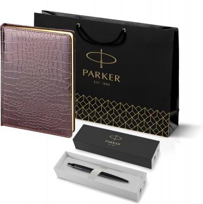 212_3_4942753 Подарочный набор: Шариковая ручка Parker  Jotter XL SE20 Monochrome в подарочной упаковке, цвет: Black, стержень: Mblue и Ежедневник недатированный А5