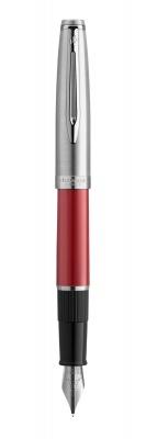 2100404 Перьевая ручка Embleme RED CT перо тонко (F) в подарочной коробке