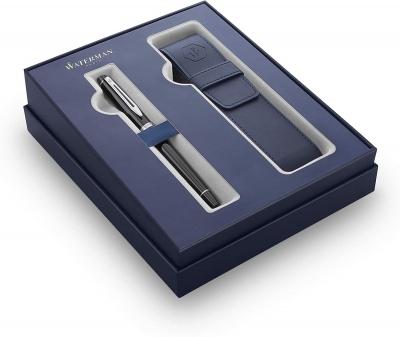 WT7FS-BLK1CT Waterman Expert. Подарочный набор Waterman Expert с перьевой ручкой и чехлом Black CT перо M