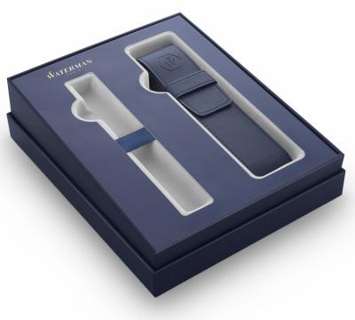 WT1BX-BLU2 Waterman Комплектующие. Подарочная коробка Waterman с чехлом для одной ручки, цвет синий