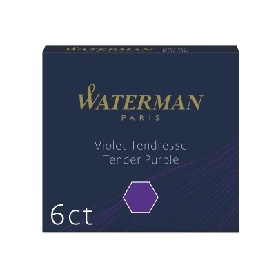 S0110980 Чернила в картридже Waterman Tender Purple MINI  (в упаковке 6 картриджей)